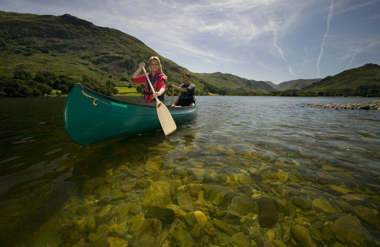 Canoeing on Lake Ullswater