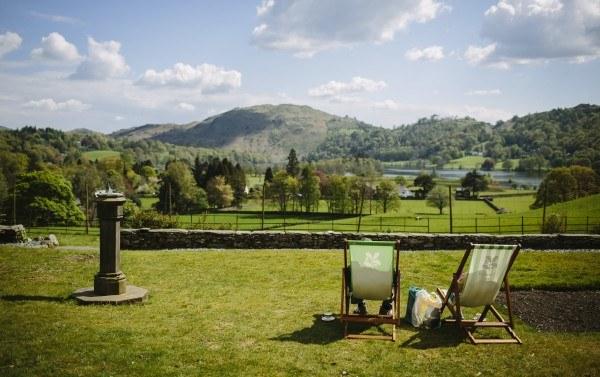 Lake District surroundings at Allan Bank in Grasmere