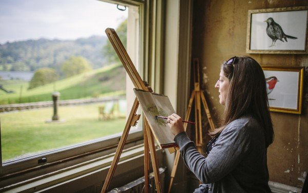 Painting at Allan Bank in Grasmere